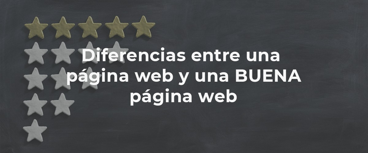 Diferencias entre una página web y una buena página web | The Chef Marketing